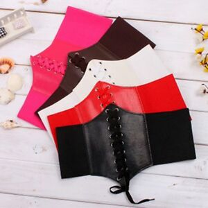 Elastic-Lady-Faux-Fashion-Band-Leather-Women-Belt-Waistband-Stretch-Corset