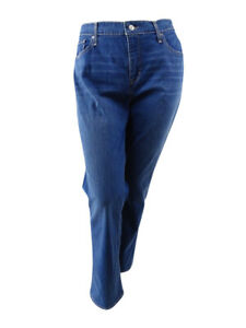 Levi-039-s-Women-039-s-Plus-Size-Straight-Fit-Straight-Leg-Jeans-Plus-24W-Navy