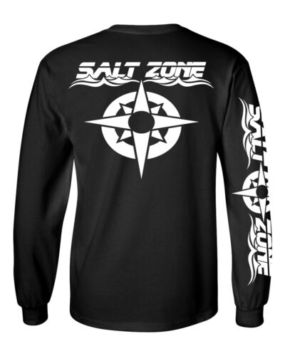 Salt Zone Long Sleeve saltwater fishing t shirt 100/% cotton reel life ocean fish