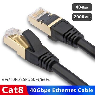 6FT LOT for Gaming PC TV PS4 Modem Router Mac Top-Quality CAT 8 Ethernet Cable