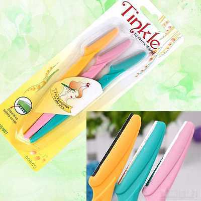 New Portable 3x Pro Tinkle Eyebrow Razor Trimmer Shaper Shaver Hair Remover Set