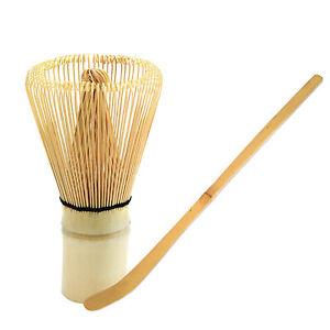 Chasen Matcha Whisk + Scoop Set Japan Green Tea Tool Set 100 Prongs Bamboo Whisk