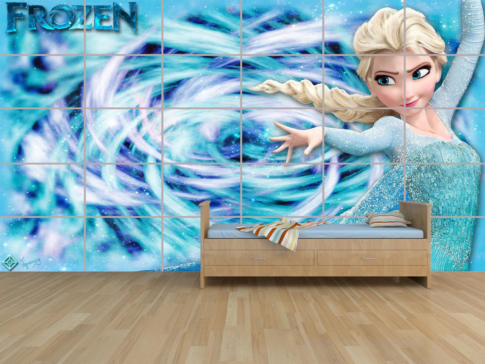 Frozen Reina de las Nieves Elsa 06 Gigante Cartel Poster Habitación Niños