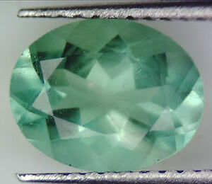 1.99 CT 100% NATURAL GREEN FLUORITE OVAL FACETED CUT GEMSTONE 6 X 8 MM LOOSE