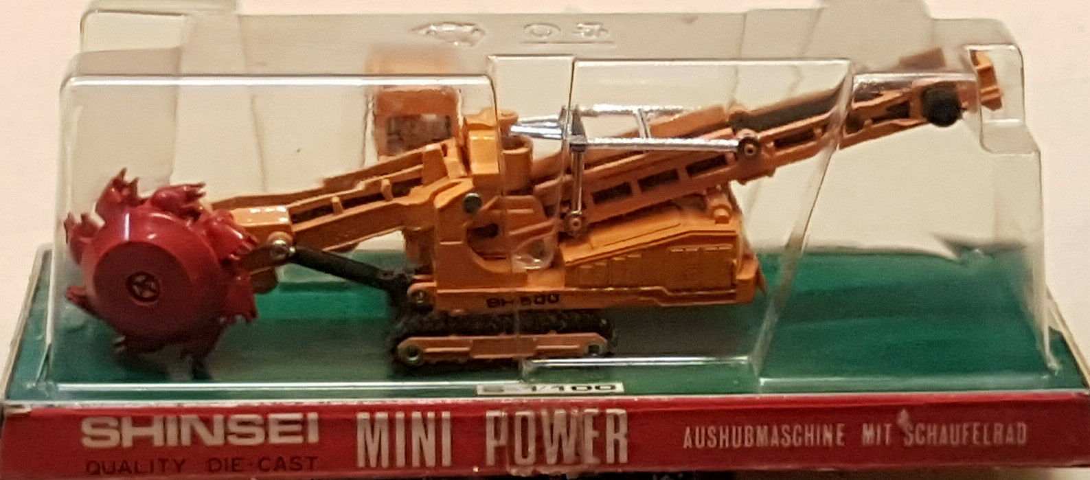 los clientes primero Shinsei Mini Power Power Power Bucket Wheel Excavator scale die cast metal Japan '70  gran descuento