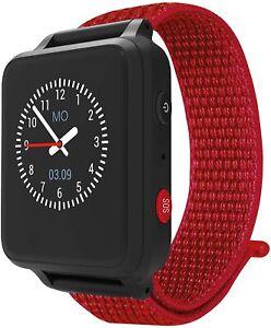 Anio 5 - Rot / Schwarz - Kinder Smartwatch GPS Uhr