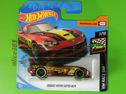 neu in OVP 50 HOT WHEELS 2020 HW Race Day Dodge Viper SRT10 ACR