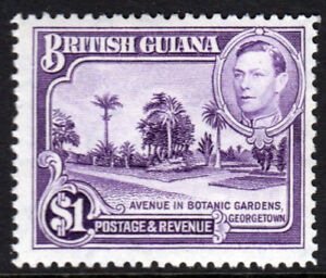 British-Guiana-KGVI-1938-1-Bright-Violet-SG317-Mint-Lightly-Hinged