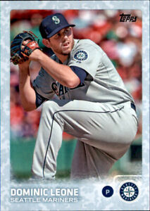 2015 Series 1  Dominic Leone #d /99 Sky Powder Blue Camo Parallel Mariners #49