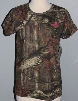 New Ladies MOSSY OAK Break-Up Country Short Sleeve Shirt Womens M L XL 2XL Camo