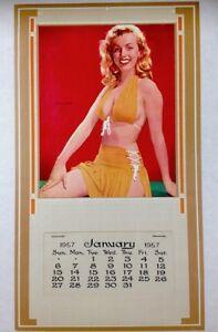 Marilyn Monroe 1957 Vintage Pinup Calendar Laszlo Willinger Litho MINT COA