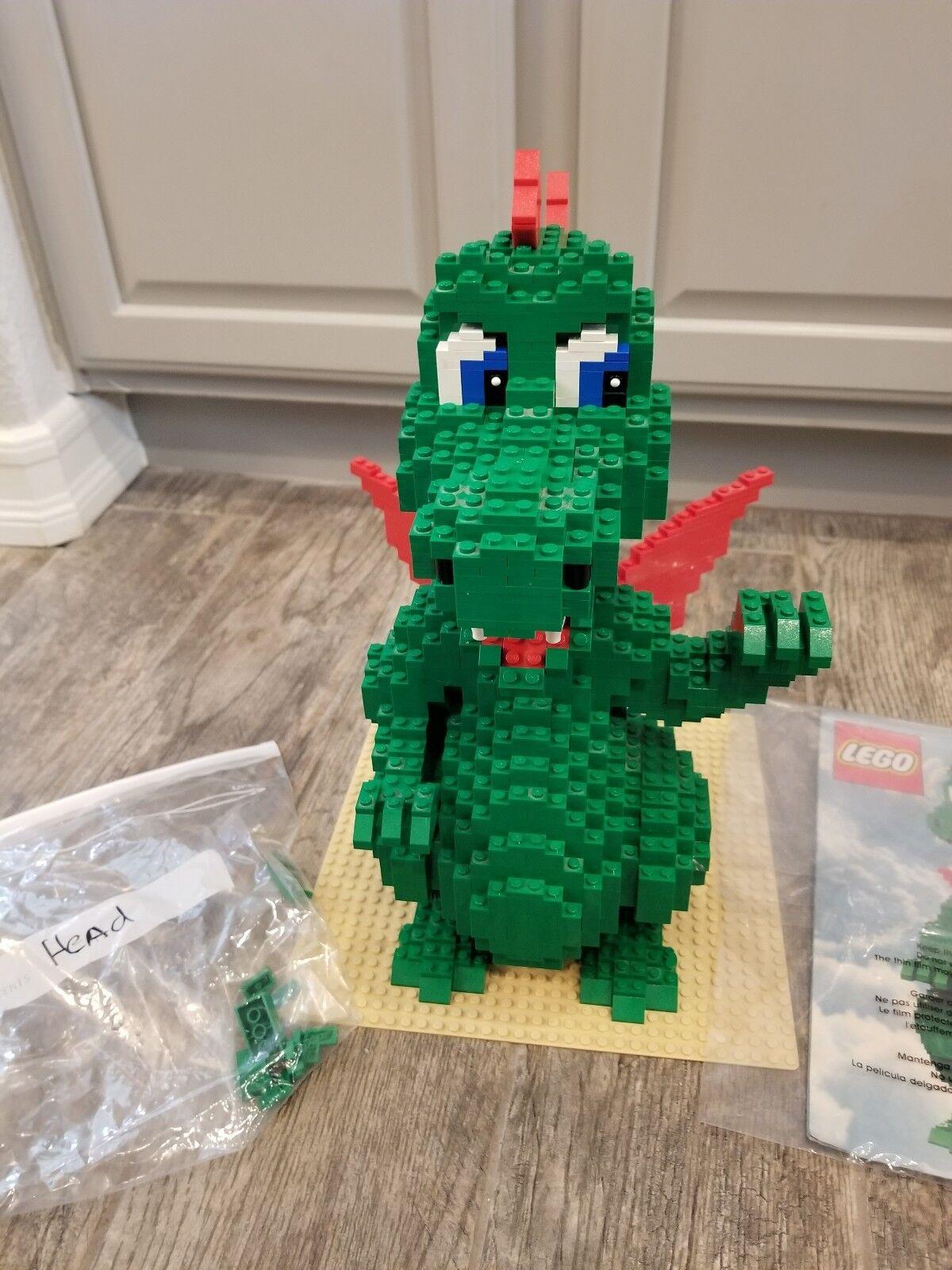 LEGO Grün Dragon SCULPTURE 3724 - - - COMPLETE - No box decc67