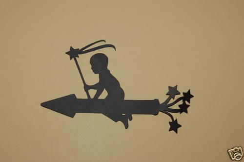 Rocket Silhouette Cardstock Die Cut//Cuts Cricut 4th of July Boy