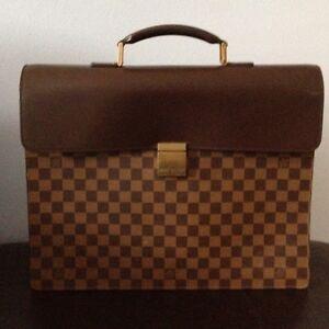 LV-Louis-Vuitton-Damier-Double-Document-Briefcase-Fantastic-Condition-vintage