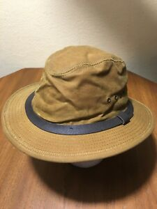 NWOT FILSON MADE IN USA ORIGINAL OIL FINISH TIN PACKER HAT M DARK ... aa879eb41f8