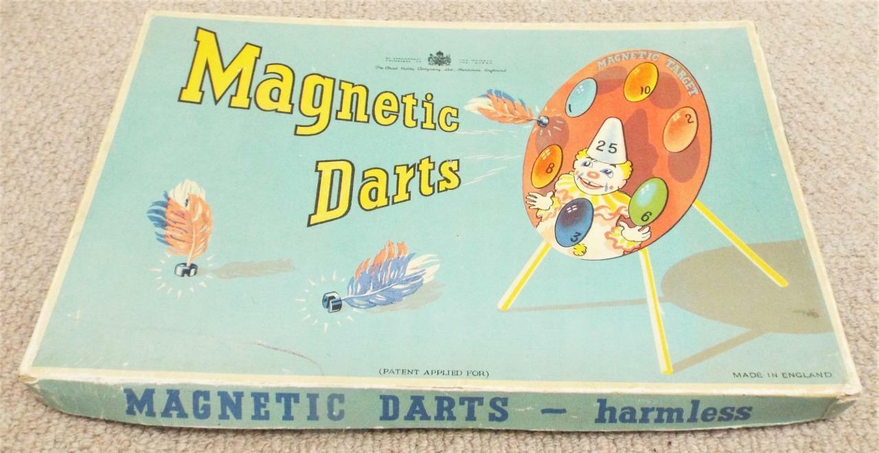 Chad  Vtuttiey magnetico freccette gioco vintage 1940s IN SCATOLA GIOCO  molte sorprese