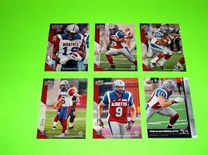 6-MONTREAL-ALOUETTES-UPPER-DECK-CFL-FOOTBALL-CARDS-45-50-51-52-90-115-6