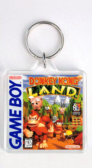 DONKEY KONG LAND NINTENDO GAME BOY KEYRING LLAVERO