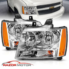 2007 14 Replacement Chrome Headlight Pair For Chevy Avalanche Subarban Tahoe Fits 2007 Chevrolet Suburban 1500
