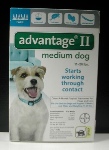 ADVANTAGE II for Medium Dogs 11-20 lbs (6 PACK) !!! US EPA APPROVED !!!