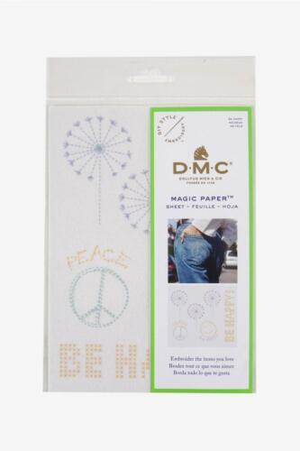 DMC Magia de papel-Ser Feliz Colección-diseño impreso en lienzo soluble-para EM