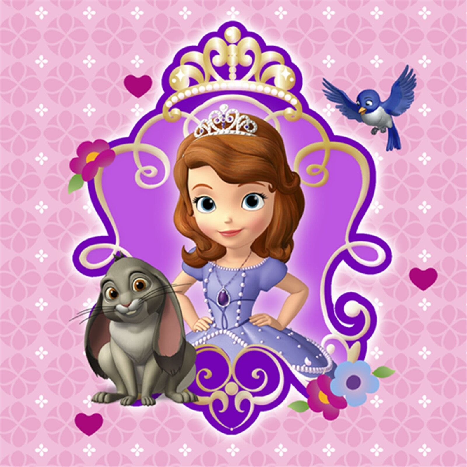 Disney Princess Sofia The First 24 X 36 Poster Pink Background