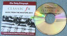 Music from the Masters 2011 Classic FM Vol. 1 Telegraph Promo CD-Classical Album