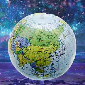 Inflatable Globe World Map. Image is loading Inflatable Globe Blow Up World Map Atlas  Ball Earth