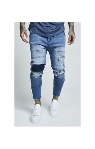 Beförderung neues Design Schnelle Lieferung Details about Sik Silk Men's Drop Crotch Patch Stretch Denim Skinny Fit Low  Rise Jeans