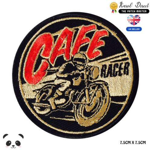 Cafe Race Bikers  Embroidered Iron On Sew On PatchBadge For Clothes etc