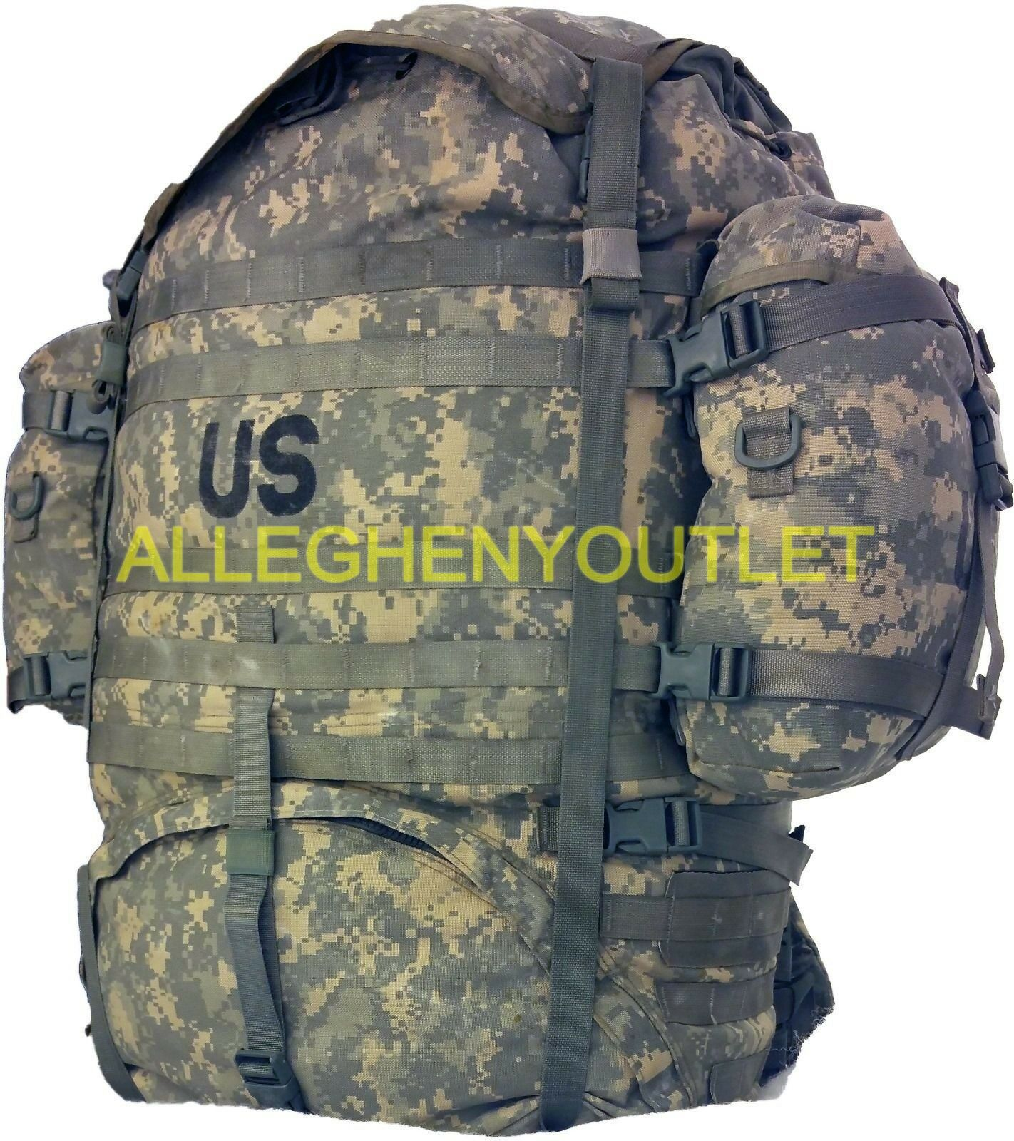US Military Molle ACU gree Ruck sack Field Pack completare w Frame & Pouches EXC