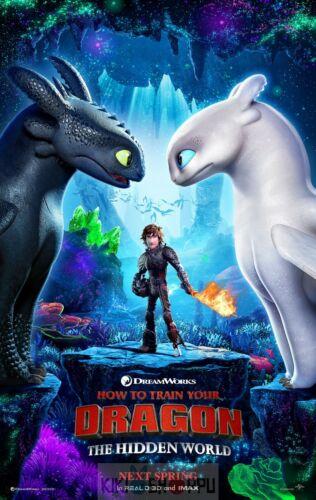 How to Train Your Dragon Pelicula Film 01 Poster A3 Como Entrenar a Tu Dragon