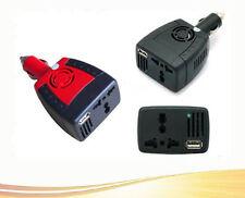Charger Adapter To 110/220V Car 75W AC+USB 5V 12V DC Power Inverter Fashion