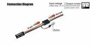 6S-20S Anti Spark Power On//Off Switch for VESC ESC electric skateboard longboard