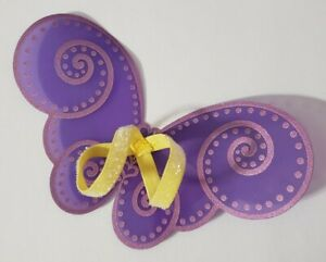 BARBIE-DOLL-ACCESSORIES-PURPLE-amp-PINK-GLITTER-FAIRY-WINGS-YELLOW-STRAPS-FASHION