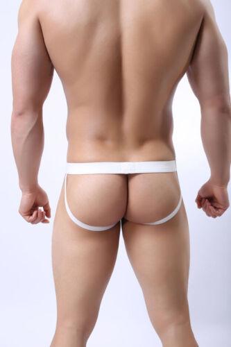 Men Fishnet Sheer Underwear Backless Jockstrap Briefs Net Thong Comfy C0960