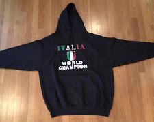 "Bay State Apparel- Italia ""Numero Uno"" World Champion Hooded Sweatshirt Size XXL"