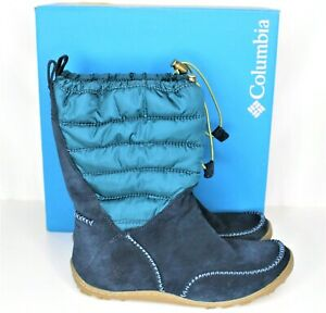 NEW-Columbia-Minx-Moccasin-Omni-Heat-Womens-Size-8-5-Blue-Waterproof-Boots-Shoes
