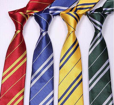 Cravate cravate costume à rayures Harry Potter Poudlard maison-sorcier école