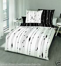 Kaeppel Mako Bettwäsche Cocoon schwarz/weiß 80x80 + 155x220 cm(684610)