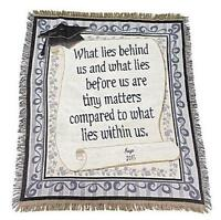 Personalized What Lies Within Us Cotton Throw Blanket Graduation Gift 60l