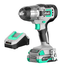 Litheli 12 Cordless Electric Impact Wrench Set 20v With 2ah Battery Amp Charger