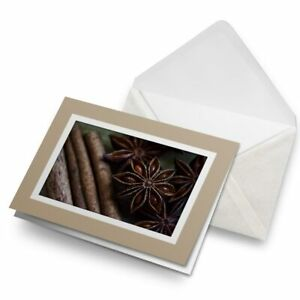 Greetings-Card-Biege-Star-Anise-Cinnamon-Sticks-Spices-Chef-24251