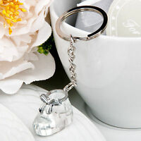 Crystal Baby Shoe Bootie Key Chains Baby Shower Party Favor - 25-100 Qty
