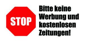 15 X Stop Bitte Keine Werbung Und Kostenlosen Zeitungen