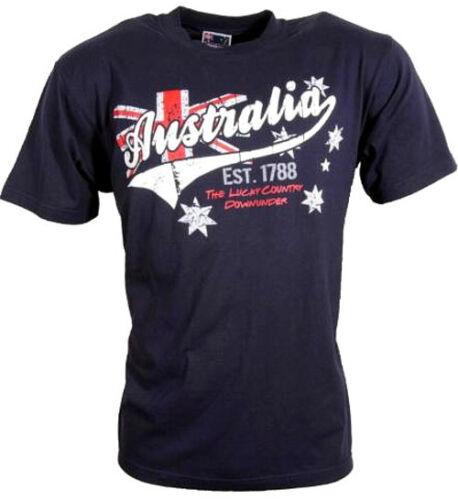 T Shirt  Australia blue 1788 Australien Lucky Country Down Under