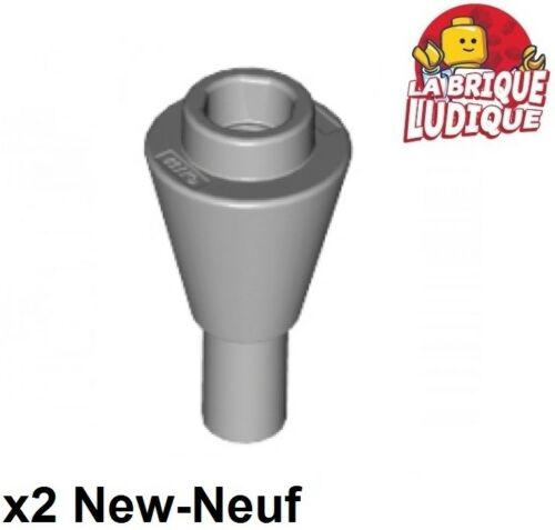 Lego 2x Ice Cream Cone glace esquimau food gris//light bluish gray 11610 NEUF