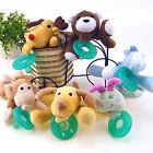 Kawaii Animal Baby Nipple Infant Wubbanub Silicone Pacifiers with Plush Toy New