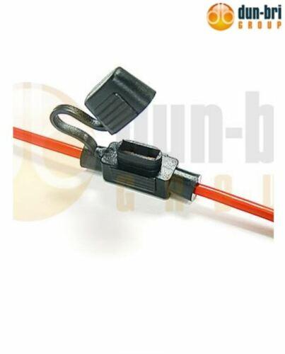 DBG In-Line Mini-Lame Porte-fusible Cap Câble 3.3 mm² Voiture Van Camion Moto