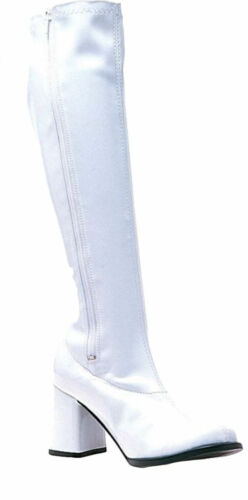 Morris Costumes Women/'s 1960s Go Go Patent Leather Boot White 10 HA4WT10